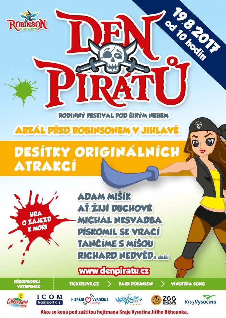 Den pirátů v areálu před Robinsonem v Jihlavě 1