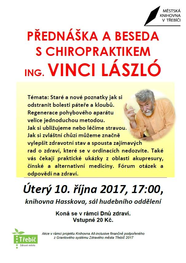 Přednáška a beseda s chiropraktikem Ing. Vinci László 1