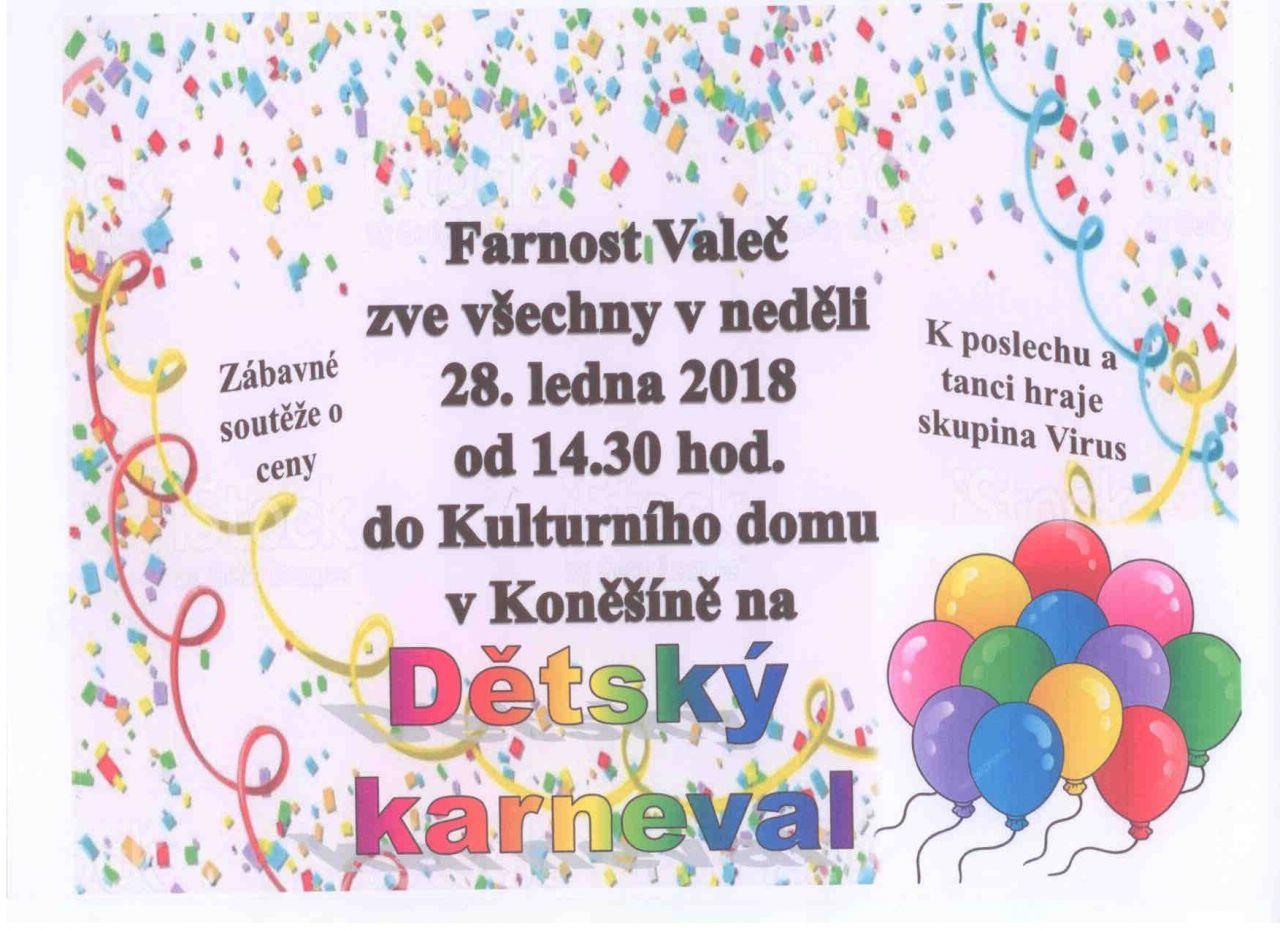 Dětský karneval v Koněšíně 1