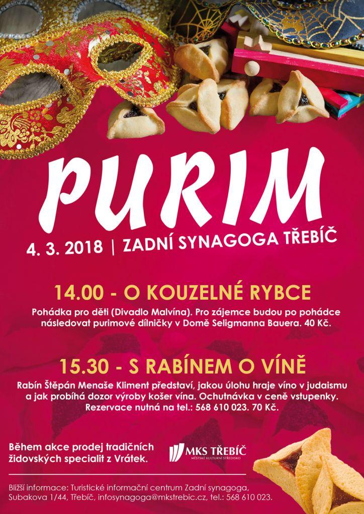PURIM, židovský svátek v Třebíči 1
