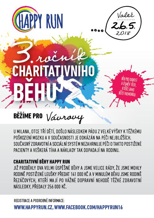 HAPPY RUN, 3. ročník charitativního běhu, Valeč 1