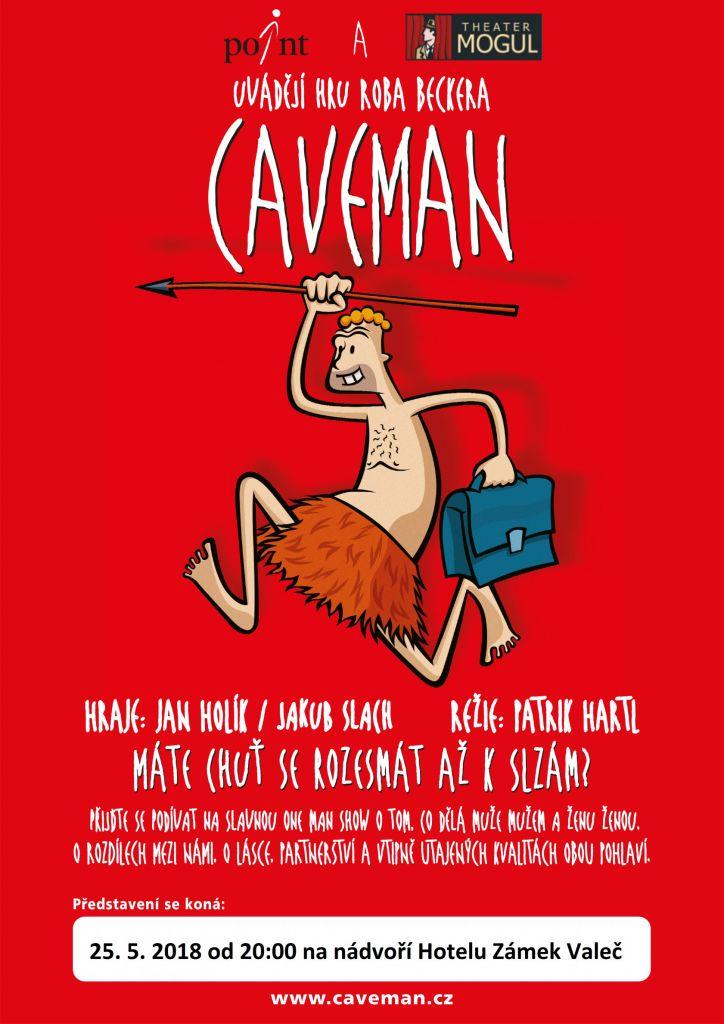 CAVEMAN, divadelní hra na nádvoří Hotelu Zámek Valeč 1