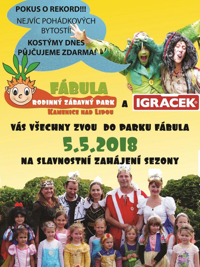 Slavnostní zahájení sezony v rodinném zábavném parku Fábula 1