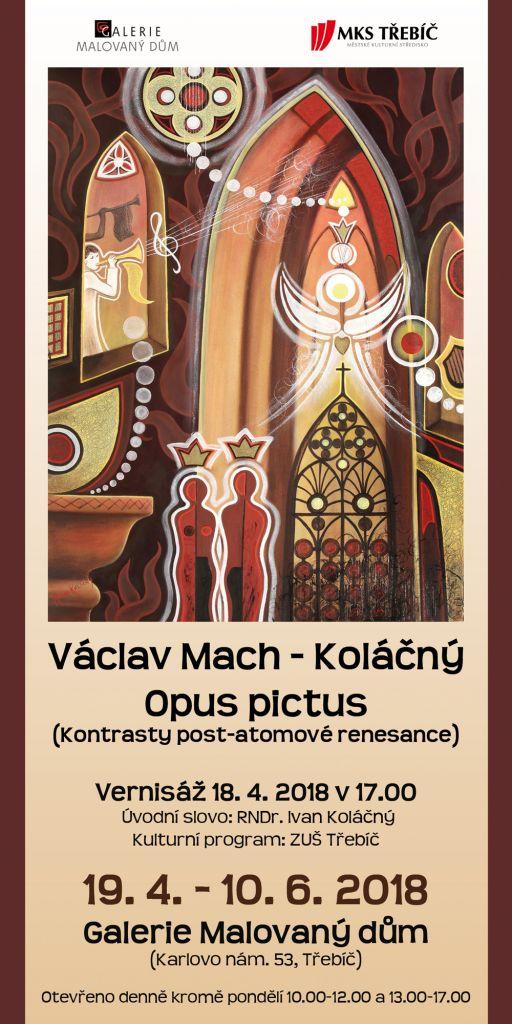 Václav Mach - Koláčný, Opus pictus, výstav obrazů v Třebíči 1