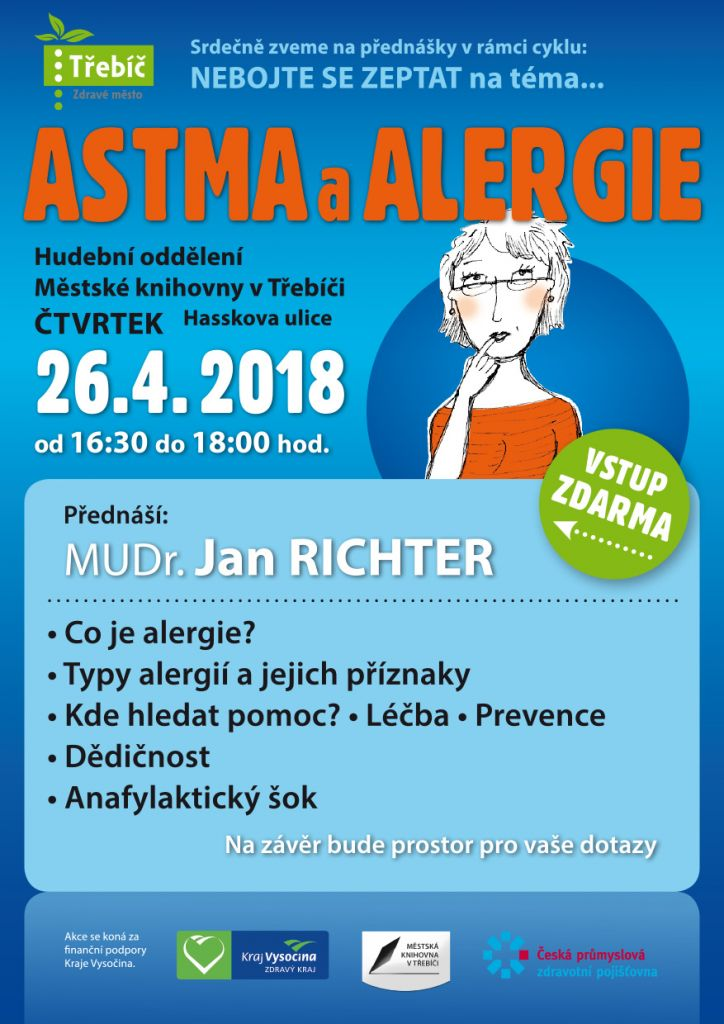 ASTMA a ALERGIE, přednáška v Třebíči 1