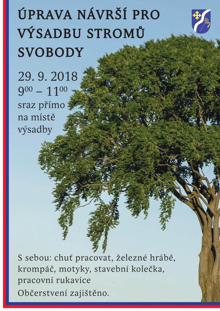 Úprava návrší pro výsadbu stromů svobody v Koněšíně 1