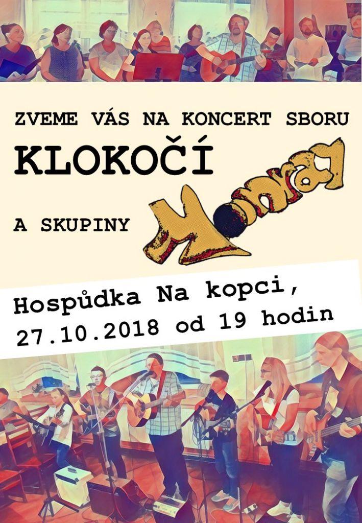 Koncert sboru Klokočí a skupiny Monray 1