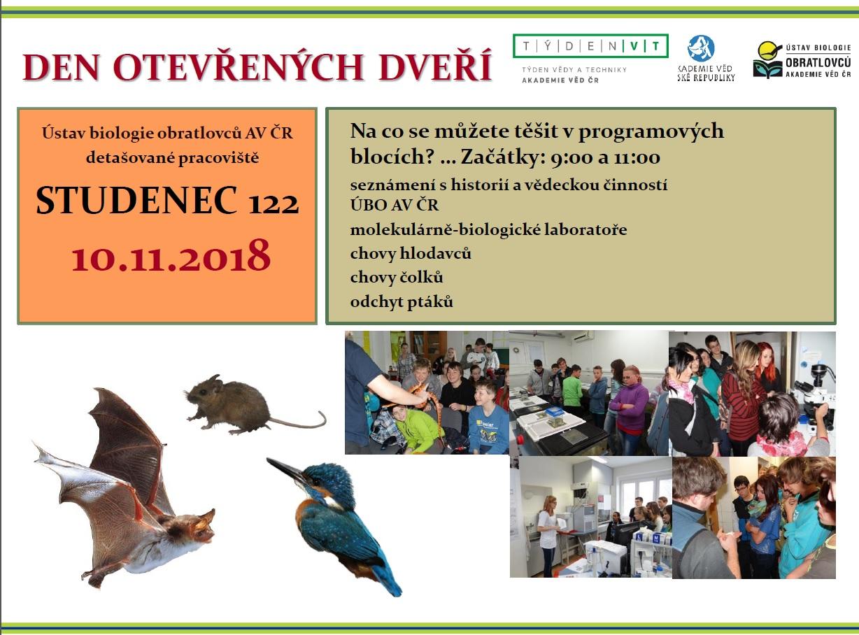Den otevřených dveří - Ústav biologie obratlovců AV ČR Studenec 1