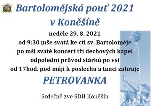 Bartolomějská pouť 2021_neděle