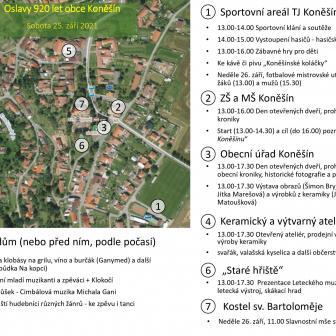 Mapa s programem